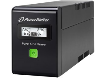 PowerWalker UPS POWER WALKER LINE-INTERACTIVE 600VA 3X IEC 230V,PURE SINE    WAVE,RJ11/45 IN/OUT,USB,LCD (Pełna sinusoida)