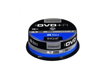 Intenso DVD+R 16x 4,7GB Printable (25 Cake)
