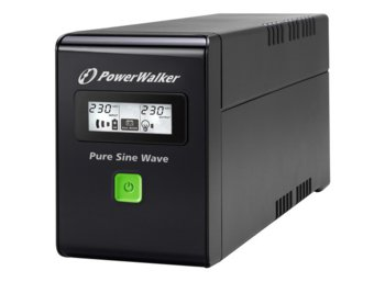 PowerWalker UPS LINE-INTERACTIVE 600VA 2X PL 230V, PURE SINE    WAVE, RJ11/45 IN/OUT, USB, LCD