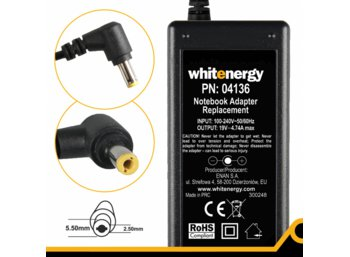 Whitenergy Zasilacz 19V | 4.74A 90W wtyk 5.5x2.5mm (04136)