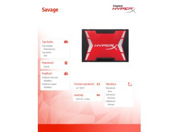 HyperX SSD SAVAGE 120GB SATA3 2.5' 560/360MB/s