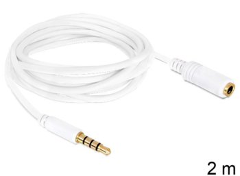 Delock Przedłużacz kabla Apple Audio Jack M/F 4PIN 2m