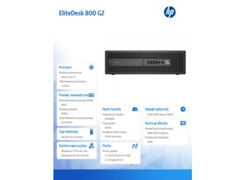 HP 800 G2ED SFF i5-6500 1TB/8GB/Win10    P1G93EA