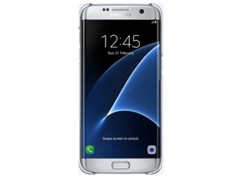 Samsung Clear Cover Galaxy S7 Edge Silver