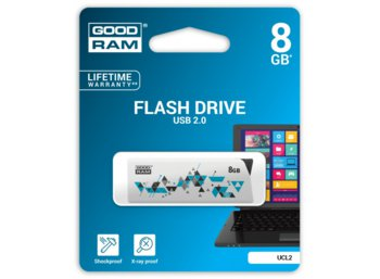 GOODRAM CL!CK 8GB USB2.0 WHITE