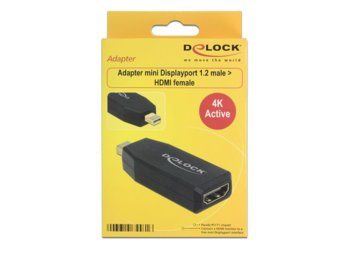 Delock Adapter Displayport Mini 1.2(M)->HDMI(F) Active 4K