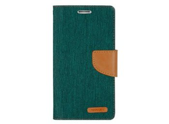 Mercury Etui CANVAS iPhone 5/5s/SE zielono/karmelowe, notes