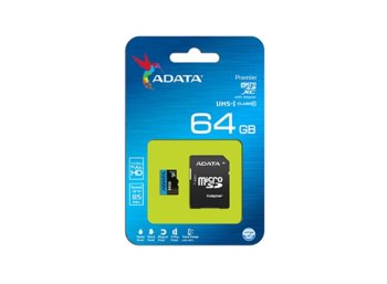 Adata microSD Premier 64GB UHS1/CL10 85/25MB/s+adapter