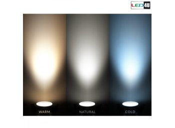 Maclean Panel LED sufitowy podtynkowy slim 12W Cold white 5500-6500K Led4U LD153C Fi170*H20mm