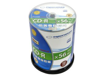Esperanza CD-R Silver 700MB x56 - Cake Box 100