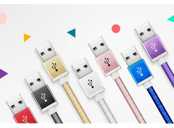 Adata Kabel USB-microUSB 1m Rose Gold alu-knit