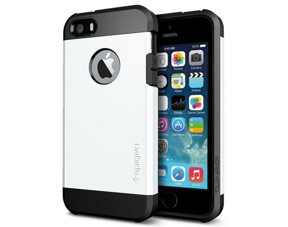 SPIGEN SGP  Etui Tough Armor White iPhone 5/5S