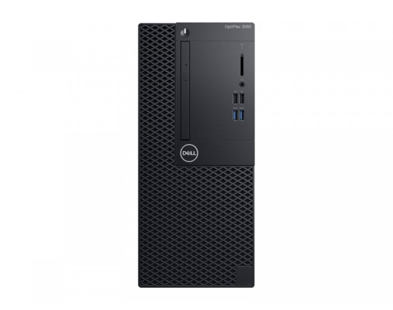 Dell Komputer Optiplex 3060MT W10Pro i3-8100/4GB/256GB/Intel UHD 630/DVD RW/No Wifi/KB216/MS116/260W/3Y NBD