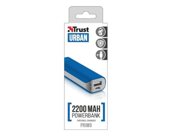 Trust UrbanRevolt Primo PowerBank 2200 Portable Charger - blue