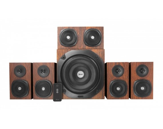 Trust  Vigor 5.1 Surround Speaker System for pc - drewniane