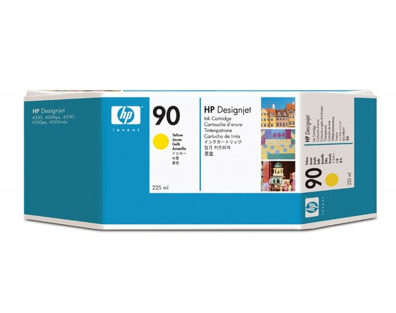 HP Inc. Tusz nr 90 Yellow 225ml C5064A