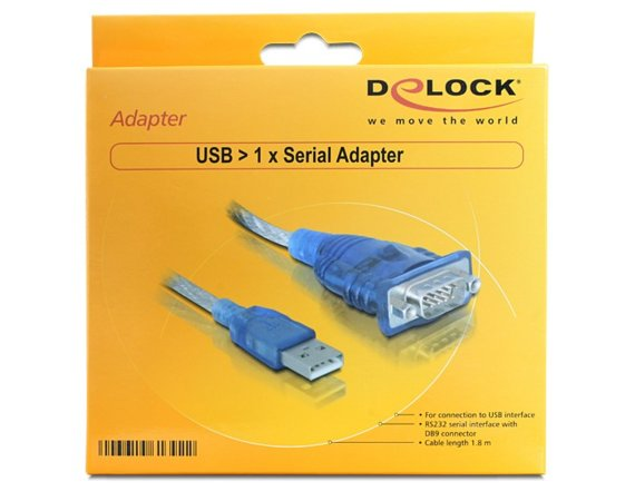 Delock Adapter USB->Serial 9pin RS232 1.8m