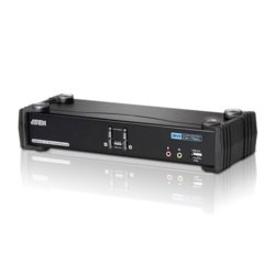 ATEN 2-Port USB DVI CH7.1 Audi KVMP Switch CS1782A