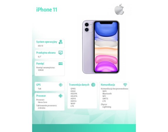 Apple iPhone 11 128GB Fioletowy