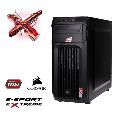 OPTIMUS E-Sport MH110T-CR17 i5-7400/8GB/1TB/GTX1050Ti 4GB BLUE LED
