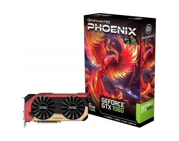 Gainward GeForce GTX 1060 Phoenix 6GB PCI-E DVI/HDMI/3DP