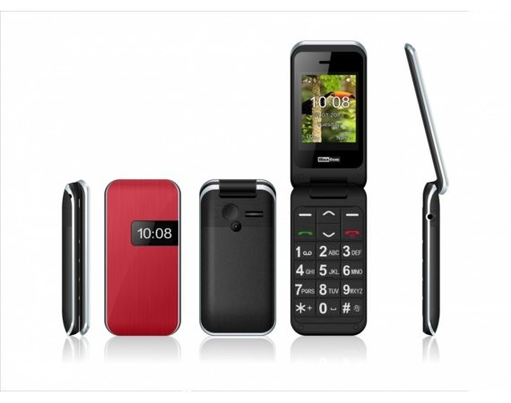 Maxcom MM 821BB CZERWONY POLIPHONE/BIG BUTTON