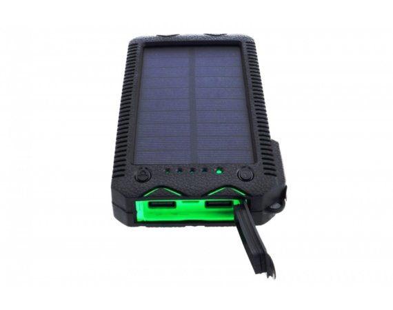 SUNEN Power bank 12000mAh z PV 1W PowerNeed zielony