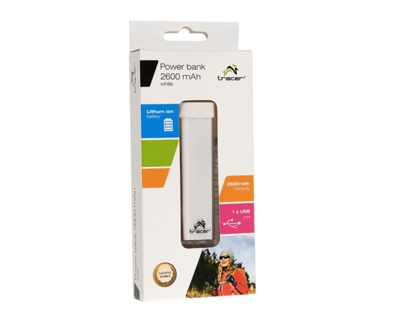 Tracer Power bank 2600 mAh biały