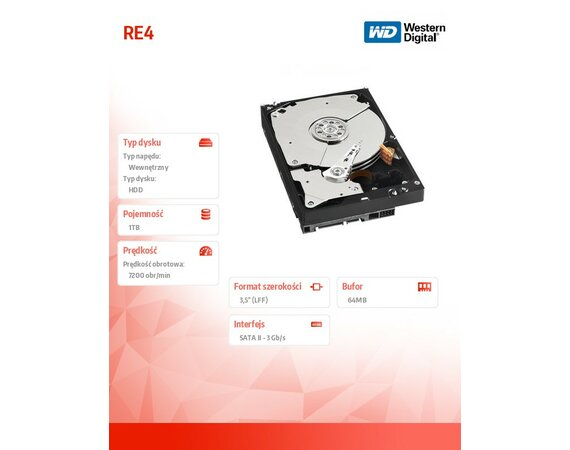 Western Digital 1000GB SATAII WD1003FBYX RE4 64MB