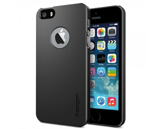 SPIGEN SGP  Etui Ultra Fit A Smooth Black iPhone 5/5s