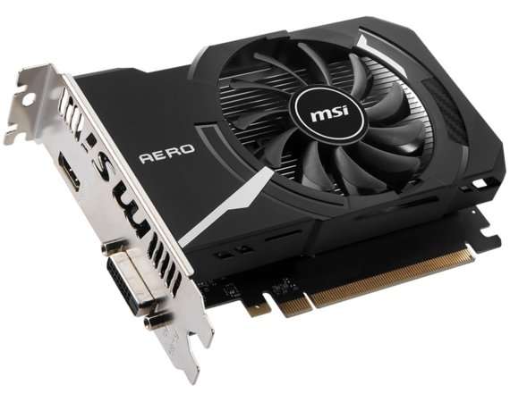 MSI Karta graficzna GeForce GT 1030 OC 2GB DDR4 64BIT HDMI/DVI