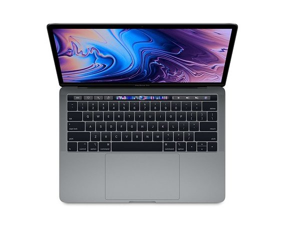 Apple Laptop MacBook Pro 13 Touch Bar, i7 2.7GHz quad-core/16GB/512GB SSD/Intel Iris Plus 655 - Space Grey MR9R2ZE/A/P1/R1