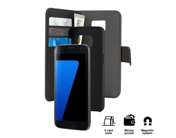 PURO Wallet Detachable - Etui 2w1 Samsung Galaxy S7 (czarny)