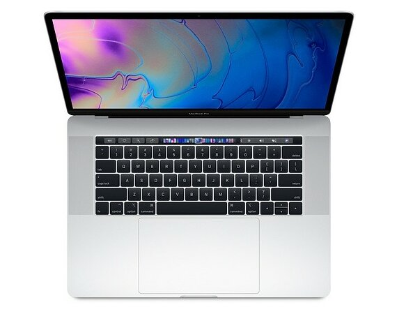 Apple Laptop MacBook Pro 15 Touch Bar, i9 2.9GHz 6-core/16GB/512GB SSD/Radeon Pro 560X 4GB - Silver MR972ZE/A/P1