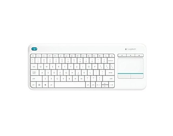 Logitech K400 Plus Wireless Touch Keyboard Biała