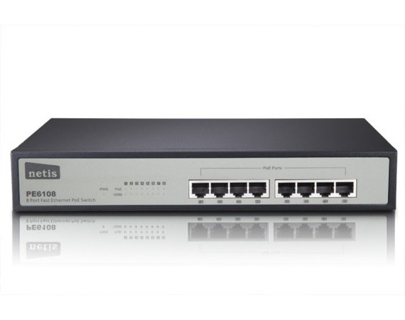 NETIS Switch POE 19'' 8-port 100MB (8 porty POE)