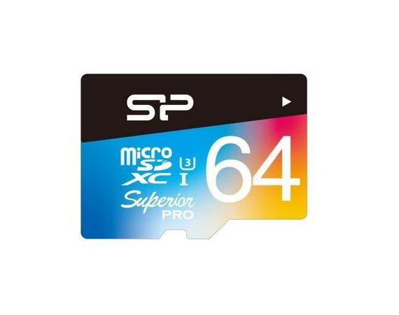 Silicon Power Karta pamięci microSDHC 64GB U3 30MB/S Superior + Adapter