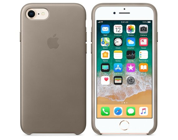 Apple iPhone 8 / 7 Leather Case - Taupe