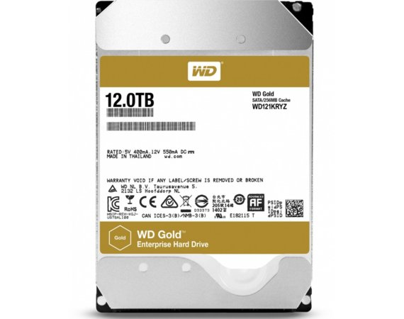 Western Digital HDD 12TB WD GOLD WD121KRYZ