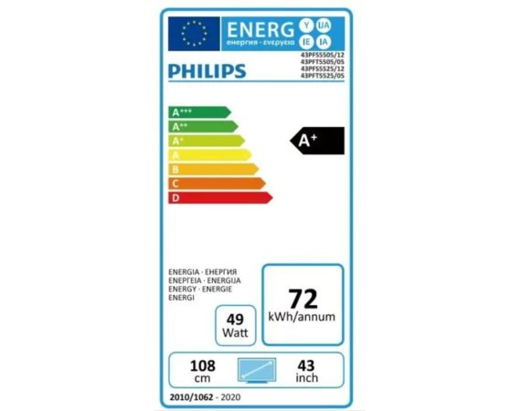 Philips TV LED 43 cale 43PFS5525/12