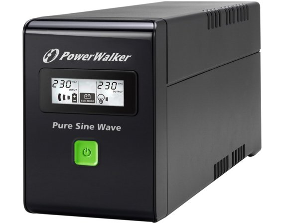 PowerWalker UPS POWER WALKER LINE-INTERACTIVE 800VA 3X IEC 230V,PURE SINE    WAVE,RJ11/45 IN/OUT,USB,LCD (Pełna sinusoida)