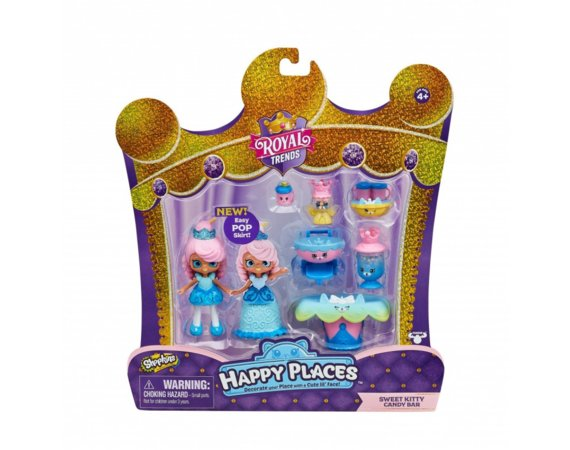 Shopkins Zestaw Sweet Kitty Candy Bar Happy Places Royal