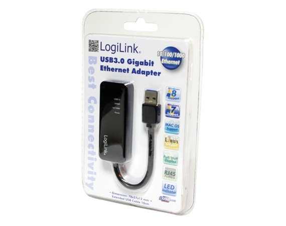 LogiLink Adapter Gigabit ethernet do USB 3.0