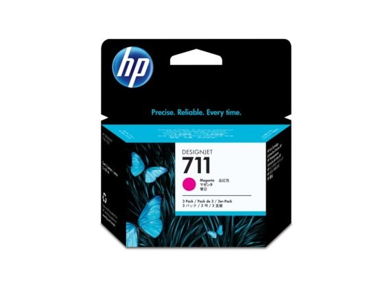 HP Inc. Tusz 711 29ml Magenta 3-Pack CZ135A