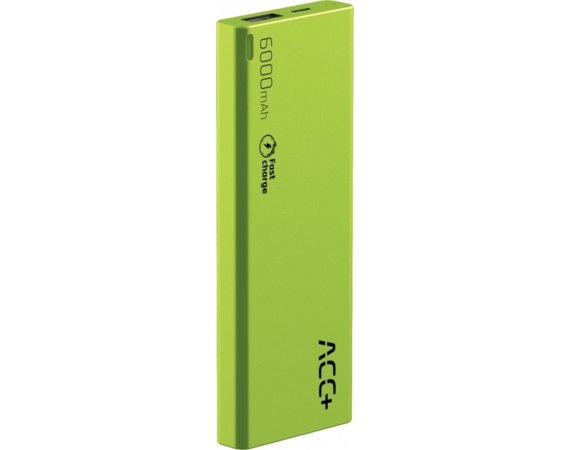ACC+ Power Bank ACC+ THIN 6000 mAh zielony