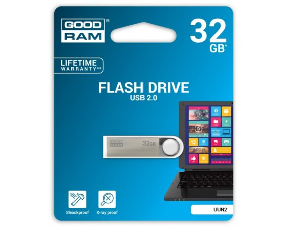 GOODRAM UNN2 32GB Srebrny USB2.0