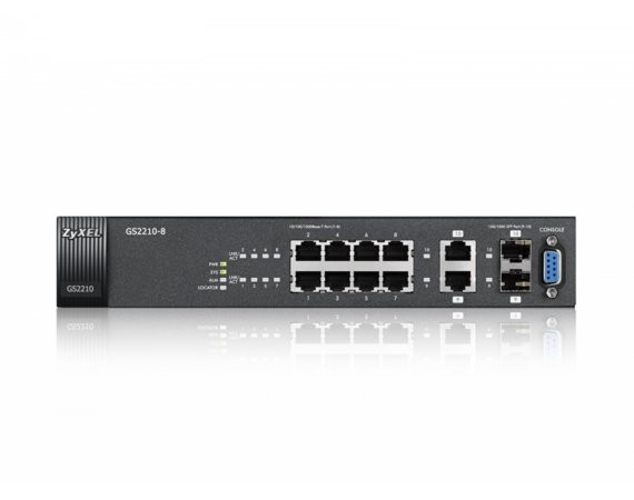 Zyxel 8xGb 2xRJ/SFP  IPv6 Web Switch GS2210-8
