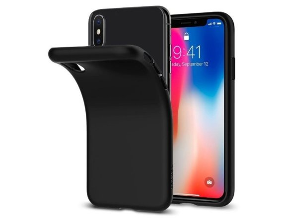 SPIGEN SGP  Liquid Matte Black etui iPhone X