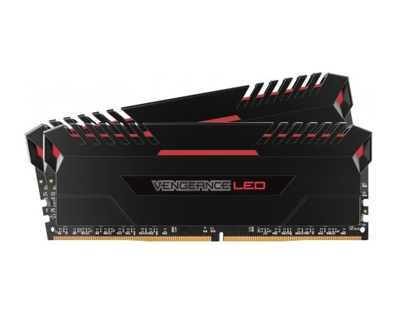 Corsair DDR4 VENGEANCE 16GB/3200 (2*8GB) CL16-19-19-36 Red LED