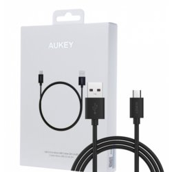AUKEY CB-D9 Black szybki kabel Quick Charge micro USB-USB | 2m | 5A | 480 Mbps